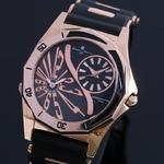 【Salvatore Marra】デュアルタイム腕時計 SM8007-PGBK