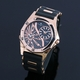 【Salvatore Marra】デュアルタイム腕時計 SM8007-PGBK 写真2