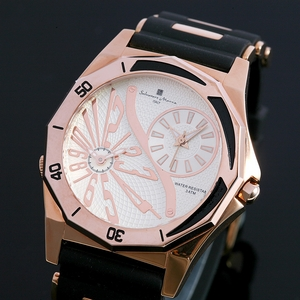 【Salvatore Marra】デュアルタイム腕時計 SM8007-PGWH