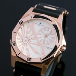 Salvatore Marra デュアルタイム腕時計 SM8007-PGWH  ¥10,500−
