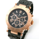 【Salvatore Marra】クロノグラフ腕時計 SM8005-PGBK