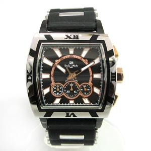 【Dolce Medio】クロノグラフ時計 DM8012-BK