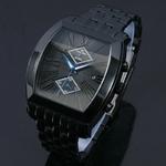 【Dolce Medio】クロノグラフ時計 DM8007IPBK