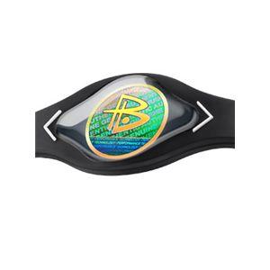 【日本正規品】POWER BALANCE(パワーバランス) シリコン・ブレスレット(ブラック/ホワイト Mサイズ)
