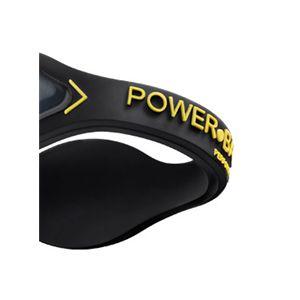【日本正規品】POWER BALANCE(パワーバランス) シリコン・ブレスレット(ブラック/イエロー Sサイズ)