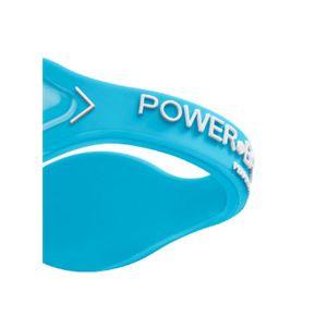 【日本正規品】POWER BALANCE(パワーバランス) シリコン・ブレスレット(アクアブルー/ホワイト Mサイズ)