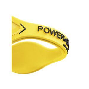 【日本正規品】POWER BALANCE(パワーバランス) シリコン・ブレスレット(イエロー/ブラック Sサイズ)