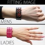 LEDブレスレット腕時計(ウォッチ) ピンク (メンズサイズ)