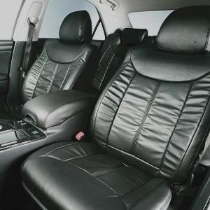 Dohm製 本革調シートカバー VIPモデル クラウンアスリート用 【T113】 ブラック 1台分