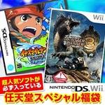 任天堂スペシャル福袋 Wii モンハントライ + DS イナズマイレブン2 ~脅威の侵略者~ ブリザード + 人気ソフト3本
