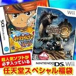 任天堂スペシャル福袋 Wii モンハントライ + DS イナズマイレブン2 ~脅威の侵略者~ ファイア + 人気ソフト3本