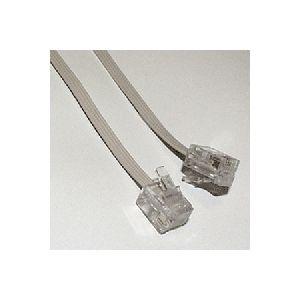 ミヨシ(MCO) 6極4芯フラットテレホンコード 1.5m MC-4015FW/N