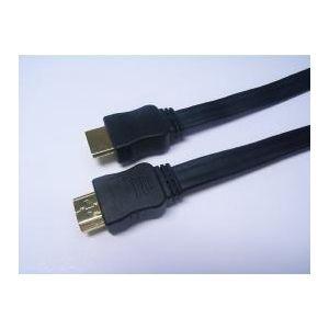 ミヨシ(MCO) フラットHDMIケーブル 19ピン→19ピン 1m HDM-HF10/BK