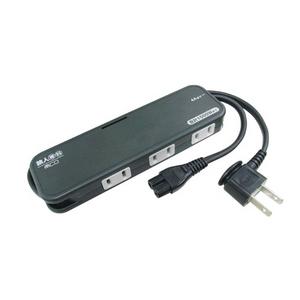 ミヨシ (MCO)モバイルマルチタップ MBP-N3P ブラック