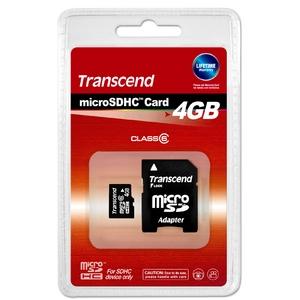 トランセンドジャパン 4GB マイクロSDHCカード TS4GUSDHC6
