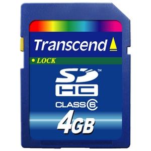 トランセンドジャパン 4GB SDHCカードCLASS6 TS4GSDHC6