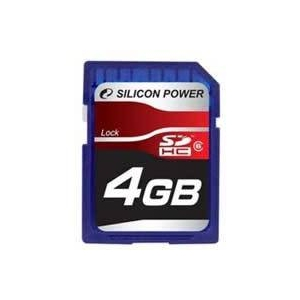 シリコンパワー 4GB SDHCカードCLASS6  SP004GBSDH006V10