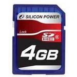 シリコンパワー 4GB SDHCカードCLASS6  SP004GBSDH006V10の詳細ページへ