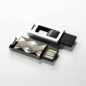 SILICON POWER(シリコンパワー) 防水仕様 Touch 850 USBフラッシュメモリ4GB チタニウム SP004BUF2850VIT