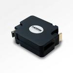【巻取ケーブル】ミヨシ(MCO) HDMIケーブル コードリールタイプ 1.2m HDM-HERA12/BK