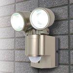 【防犯グッズ】LED×2灯・ELPA 防雨センサーライト(単3形乾電池×4本) ESL-302BT の詳細ページへ