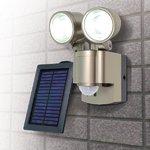 【防犯グッズ】LED×2灯・ELPA 防雨センサーライト(ソ−ラー) ESL-302SL の詳細ページへ