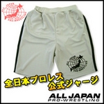 全日本プロレス公式ジャージ 【ショートパンツ/グレー LLサイズ】