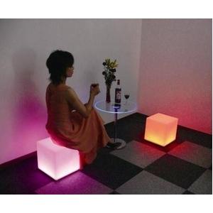 送料無料☆癒しのイルミネーションチェアー LED付キュービックチェアーの商品画像大2