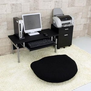 パソコンデスク ロータイプ 黒