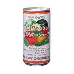 富永貿易 16種類のやさいとくだものジュース 190g 60本セット