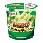 味の素 クノールスープパスタ ほうれん草とベーコン 40.9g 48個セットの詳細ページへ