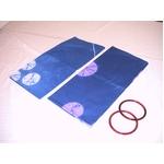 藍染風呂敷<紫・白>ペアセット