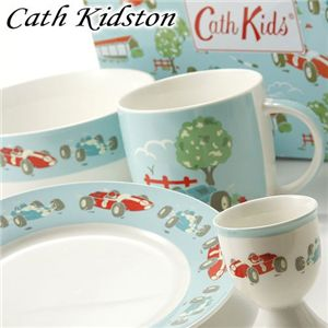 04キャスキッドソン/Cath Kidston 缶ボックス入り テーブルウェア/レーシングカー