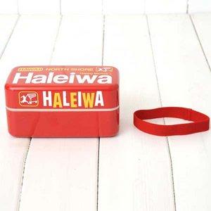 HALEIWA(ハレイワ) 保冷剤付2段ランチBOX レッド
