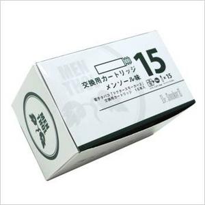 新型電子タバコ「ドクタースモーカー2」専用カートリッジ メンソール味 15本
