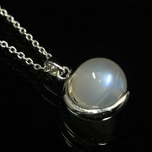 【ブルームーン】×シルバー925ペンダントの宝石