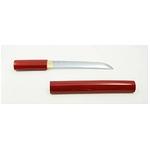 【模造刀】 朱鞘 短刀 6寸