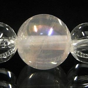 ピンクオーラ×天然水晶ブレス 6個セットの水晶