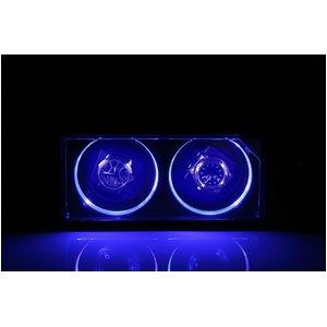 美しく光る LEDツインウォッチワインダー ブラック