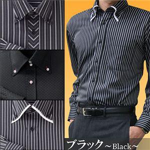 防寒ファーシャツ 3枚セット 50234 S(ブラック系)