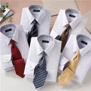お買い得!ワイシャツ&ネクタイ 10点セット Lサイズ
