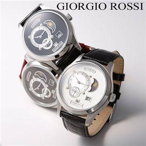 Giorgio Rossi(ジョルジオ ロッシ) 自動巻き メンズレザーウォッチ GR-0007-SI