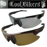 Cool Bikers(クール バイカーズ) 調光偏光サングラス ブラック×ライトスモーク