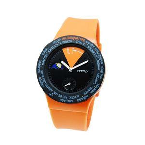 ATOP(エートップ) ワールドタイム ウォッチ VWA-06 オレンジ