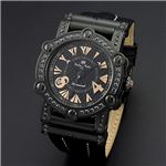 Dolce Medio(ドルチェ・メディオ) DM11211-IPBKPG ブラック(ピンクゴールド文字)×ブラック 腕時計