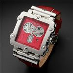 Dolce Medio(ドルチェ・メディオ) DM8018RDRD レッド×シルバー&レッド 腕時計