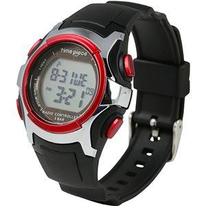 Time Piece(タイムピース) 腕時計 電波時計 ソーラー(デュアルパワー) デジタル レッド TPW-001RD