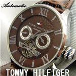 TOMMY HILFIGER(トミーヒルフィガー) オートマ マルチファンクション 1710187 ブラウン
