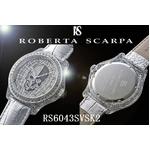ROBERTA SCARPA レザーウォッチ RS6043 シルバー(スカル)