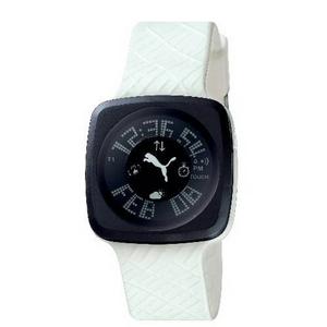 PUMA(プーマ) 腕時計 BLOCKBUSTER(ブロックバスター) gents ブラック×ホワイト BB3